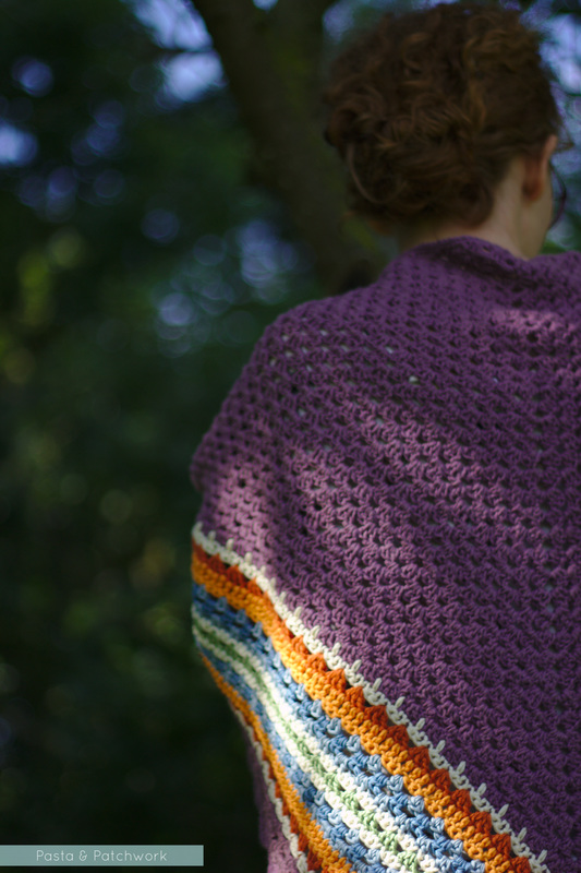 My take on the Nordic Shawl | Pattern by My Rose Valley | Image by Pasta & Patchwork