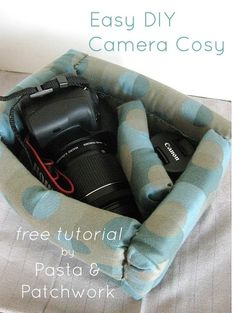 Pasta & Patchwork Winter 2014-15 Project Round-up: DIY DSLR Camera Cosy (link to instructions in post)