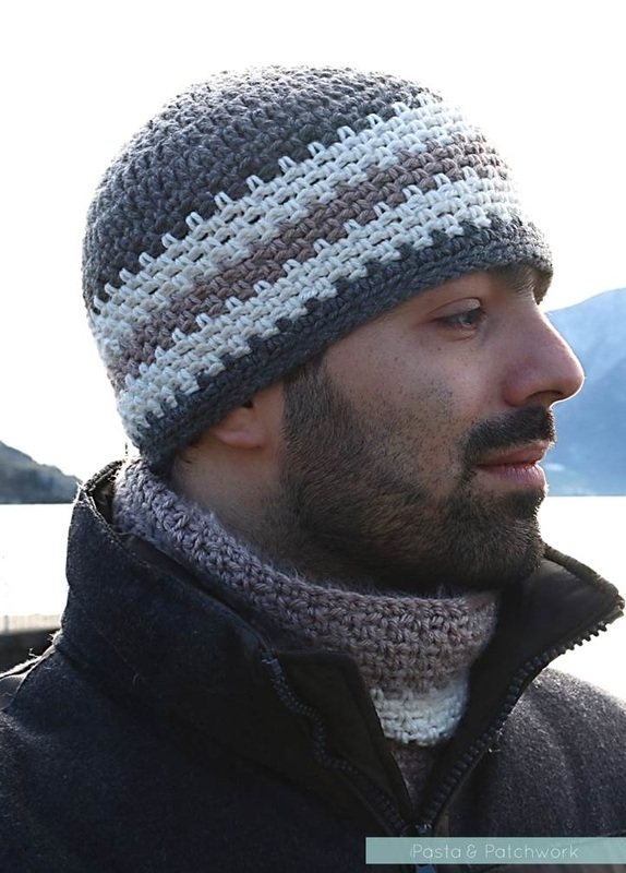 Pasta & Patchwork Winter 2014-15 Project Round-up: Men's Striped Crochet Beanie (inspiration only)