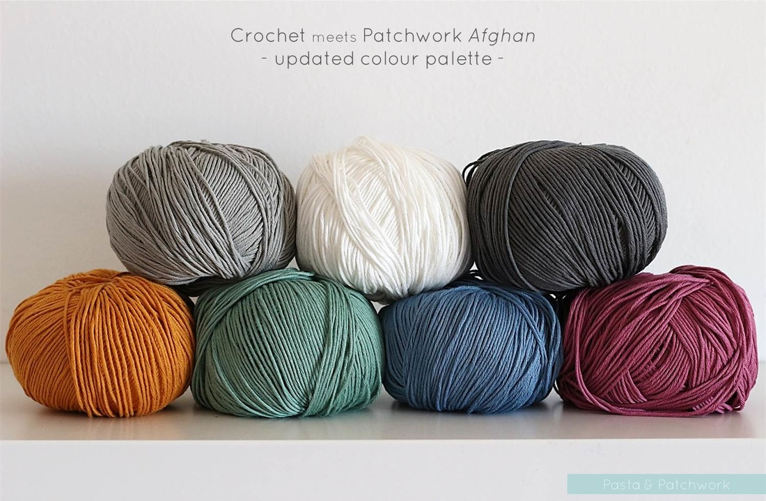 Crochet meets Patchwork Afghan | updated colour palette | by Past & Patchwork