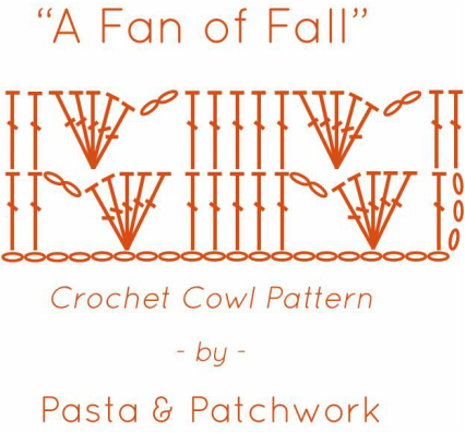 A Fan of Fall | Free Crochet Cowl Pattern by Pasta & Patchwork | Diagram