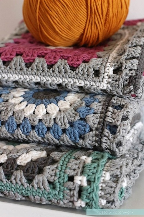 Crochet meets Patchwork Afghan | a work in progress | by Past & Patchwork