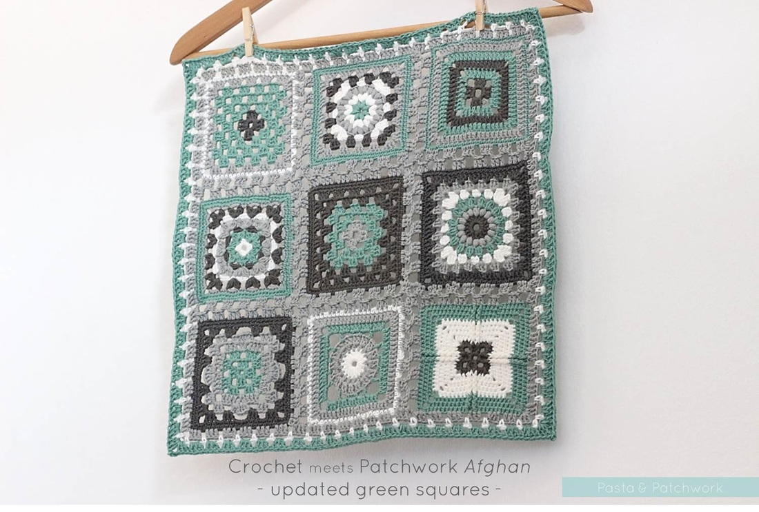 Crochet meets Patchwork Afghan | updated green squares | by Past & Patchwork
