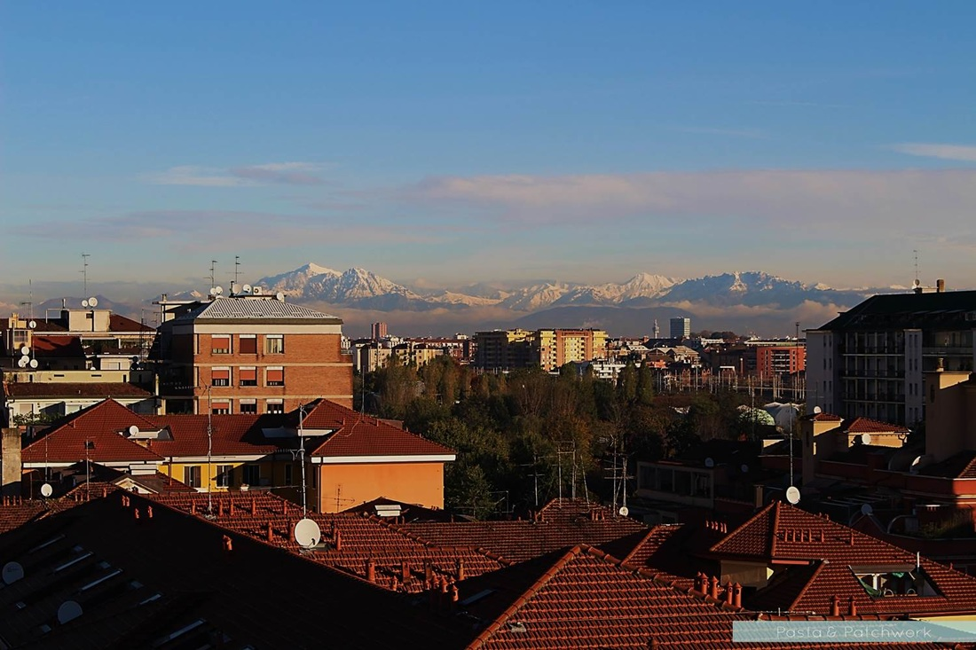 View of the Alps, as seen from Milan | Photo by Pasta & Patchwork