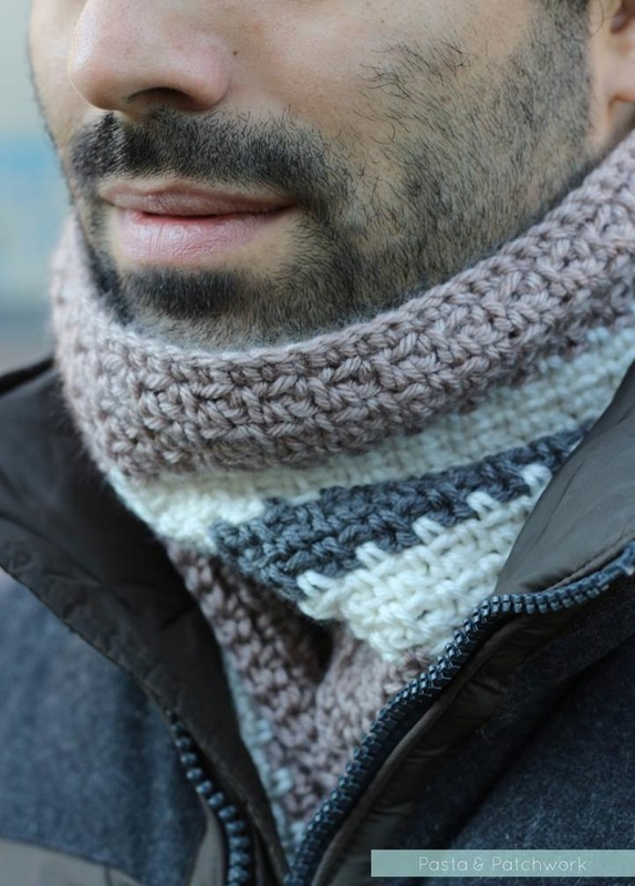 Pasta & Patchwork Winter 2014-15 Project Round-up: Men's Striped Crochet Scarf (link to pattern in post)