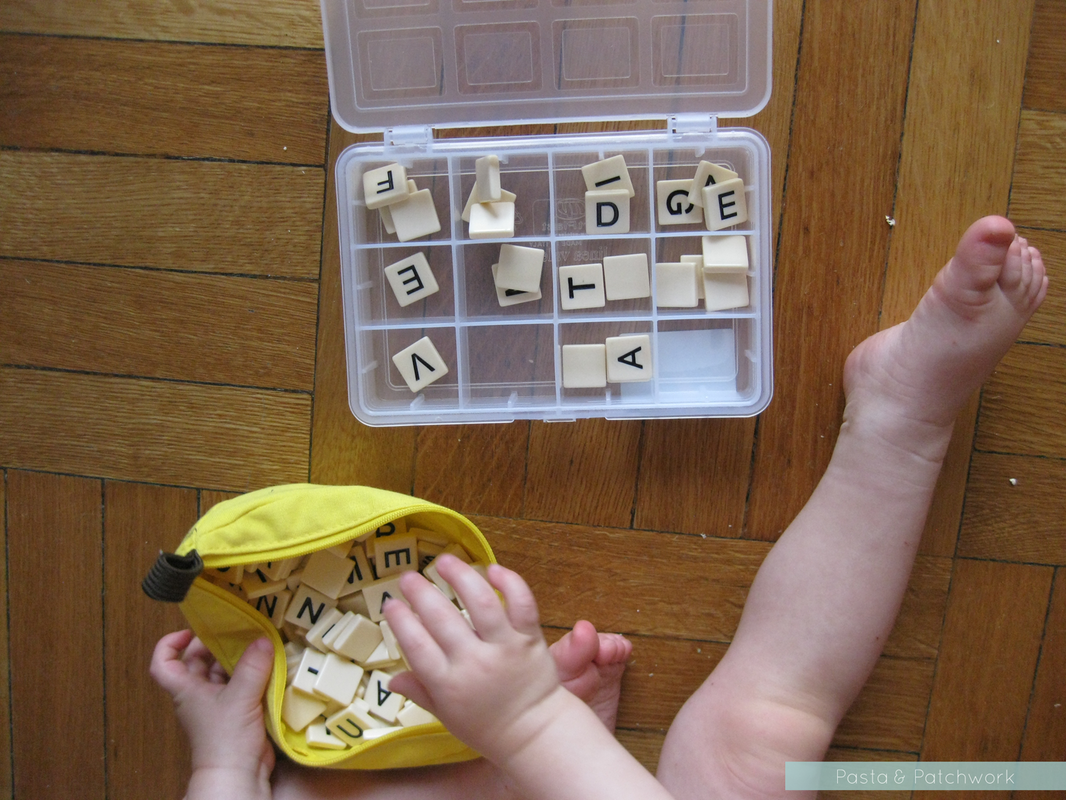 8 Cheap & (almost) No-Prep Toddler Activities - 12 to 18 months | Sorting (note: do not let your toddler play with small toys unsupervised)