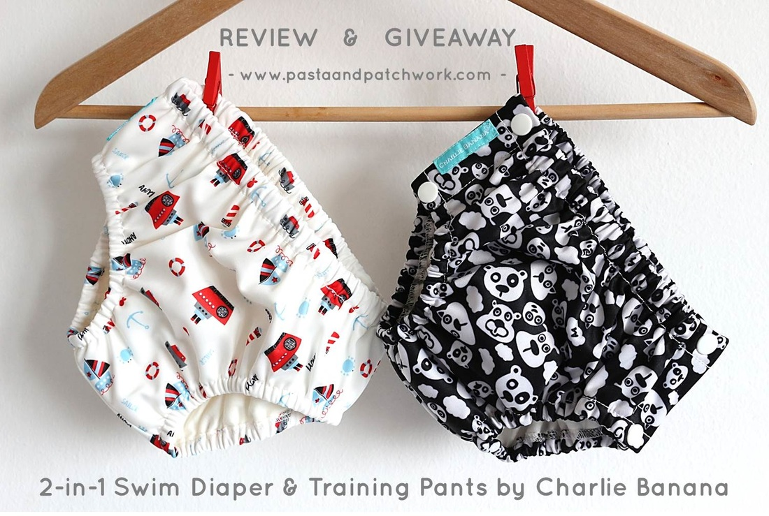 REVIEW & GIVEAWAY | Charlie Banana 2-in-1 Swim Diaper & Training Pants | Pasta & Patchwork Blog